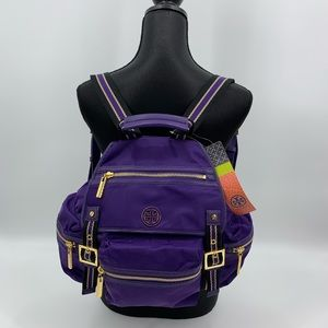 Tory Burch NWT Palma Purple Backpack